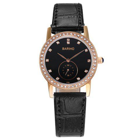Outfit Vintage Faux Leather Rhinestone Watch - ROSE GOLD  Mobile