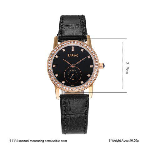 Shops Vintage Faux Leather Rhinestone Watch - ROSE GOLD  Mobile