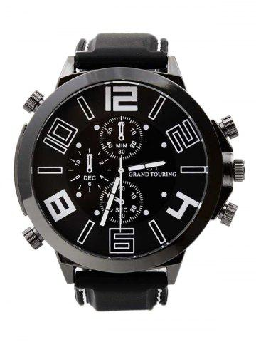 Shops Outdoor Rubber Analog Number Watch WHITE