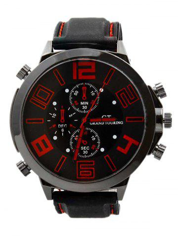 Sale Outdoor Rubber Analog Number Watch RED