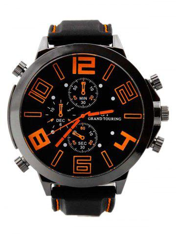 Affordable Outdoor Rubber Analog Number Watch ORANGE