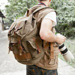 Canvas Buckle Straps Camera Backpack