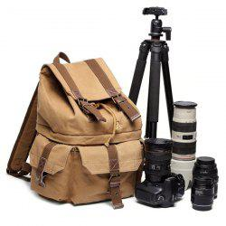 Buckle Straps Canvas Camera Backpack