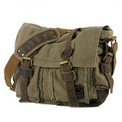 Multi Buckle Straps Messenger Bag