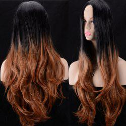 Ultra Long Middle Parting Colormix Wavy Synthetic Wig