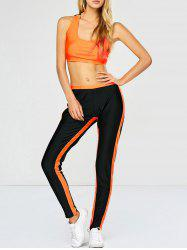 Racerback Sports Bra with Jogger Sweatpants
