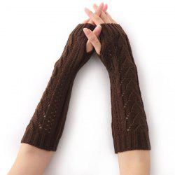 Hollow Out Triangle Crochet Knit Fingerless Arm Warmers -