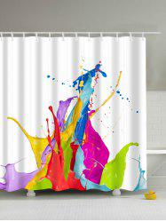 Colorful Paint Splatter Polyester Waterproof Bathroom Curtain