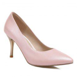 Pointed Toe PU Leather Pumps