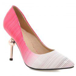 Strange Heel Ombre Patent Leather Pumps