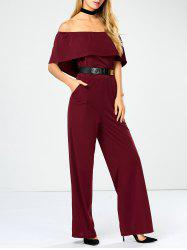 Off The Shoulder Jumpsuit with Pockets -