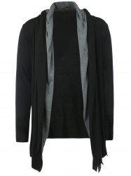 Long Sleeve Open Front Layered Hoodie
