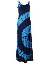 Bohemian Fanshaped Tie Dye Maxi Dress