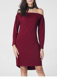 Long Sleeve  Off The Shoulder Dress