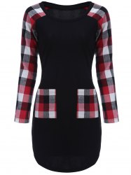 Plaid Long Sleeve Mini Dress