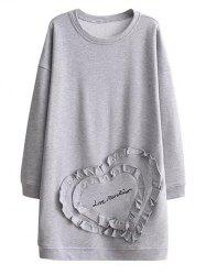 Long Sleeve Heart Sweatshirt Dress