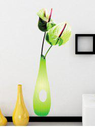 3D Flower Vase Environmental DIY Wall Stickers For Bedroom