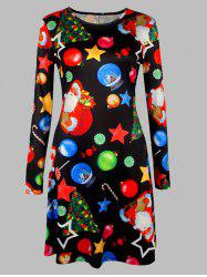 Plus Size Christmas Graphic A-Line Dress