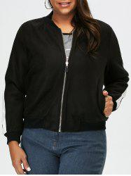 Plus Size Two Tone Jacket