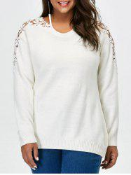 Plus Size Lace Panel Sweater