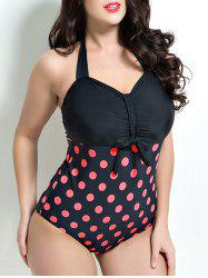 Polka Dot Vintage One-Piece Swimsuit -
