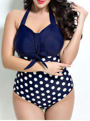 Polka Dot Vintage One-Piece Swimsuit