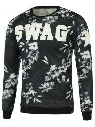 Floral Graphic Crew Neck Sweatshirt
