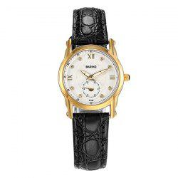 Rhinestone Artificial Leather Vintage Watch