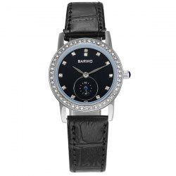 Vintage Rhinestoned Artificial Leather Watch