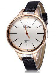 Faux Leather Curved Analog Watch
