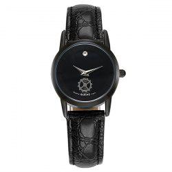 Artificial Leather Gear Analog Watch