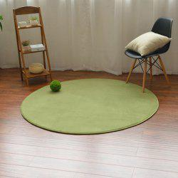 Home Decoration Candy Color Circle Coral Fleece Carpet