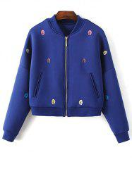 Space Cotton Tree Embroidered Jacket