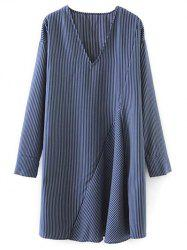 V Neck Striped Sorry Dress