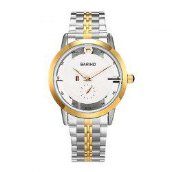 Stainless Steel Vintage Quartz Watch - GOLDEN