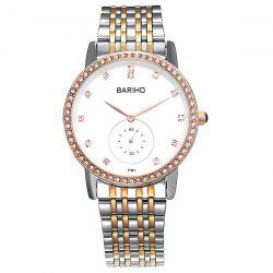 Stainless Steel Rhinestoned Quartz Watch