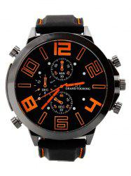 Outdoor Rubber Analog Number Watch - ORANGE