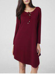 Asymmetric Long Sleeve  T-Shirt  Dress