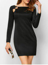 Slash Neck Cut Out Long Sleeve Bodycon Dress