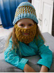 Faux Mustache Mask Funny Chunky Crochet Hat For Children -