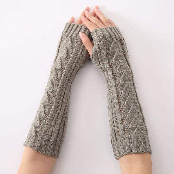 Discount Hollow Out Triangle Crochet Knit Fingerless Arm Warmers