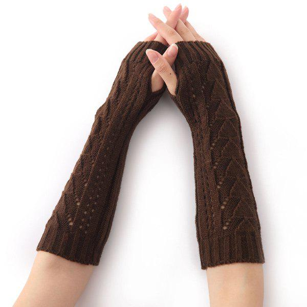 Buy Hollow Out Triangle Crochet Knit Fingerless Arm Warmers