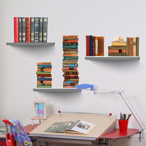 3D Vinyl Bookshelf Environmental DIY Wall StickersHOME<br><br>Color: COLORMIX; Wall Sticker Type: Plane Wall Stickers; Functions: Decorative Wall Stickers; Theme: StillLife; Material: PVC; Feature: Removable; Weight: 0.446kg; Package Contents: 1 x Wall Stickers;