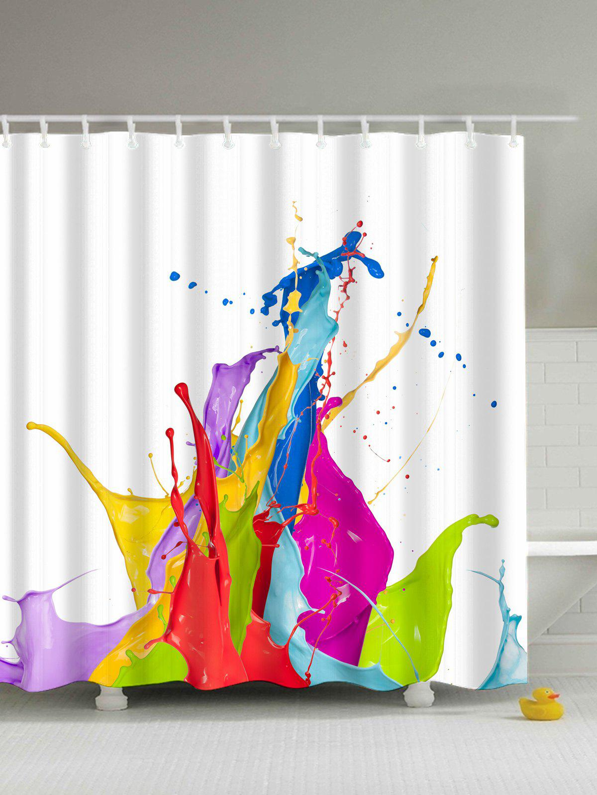 Colormix Colorful Paint Splatter Polyester Waterproof