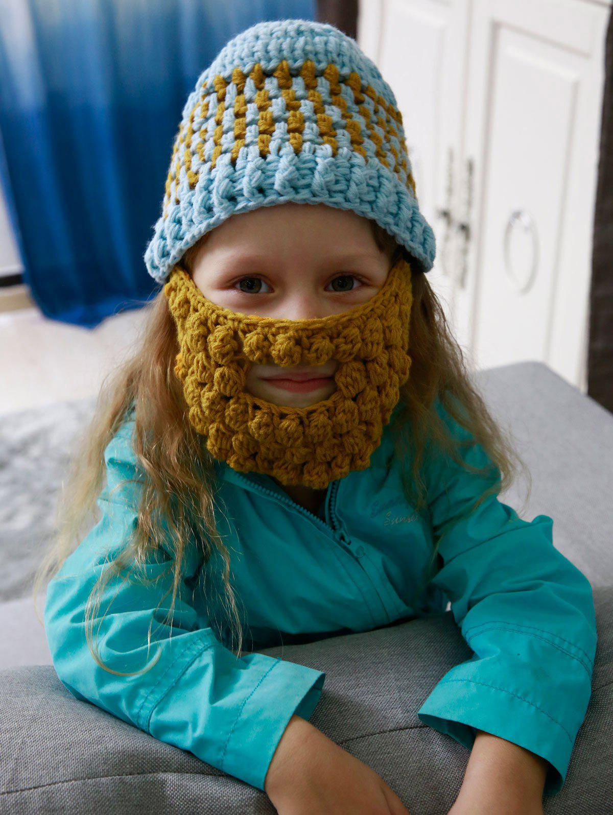 Affordable Faux Mustache Mask Funny Chunky Crochet Hat For Children