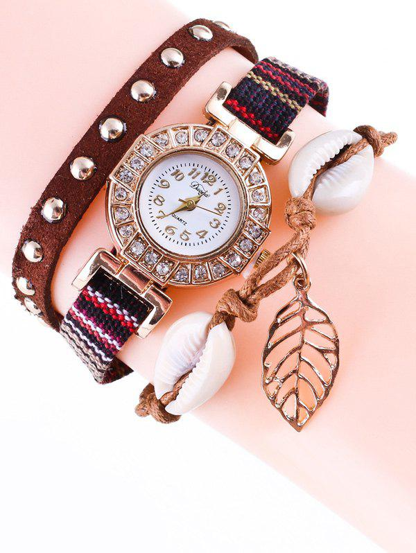 Shop Braided Rhinestone Strand Bracelet Watch