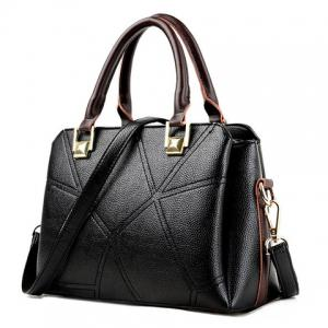 Stitching Geometric Pattern Colour Spliced Tote Bag -