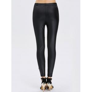 Lace See-Through Bodycon Leggings - BLACK ONE SIZE