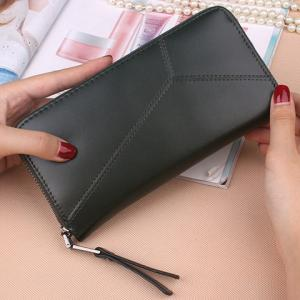 PU Leather Clutch Wallet - BLACK