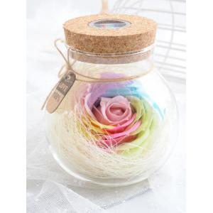 Colorful Light Rose Soap Festival Gift Wishing Bottle